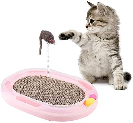 cojin rascador con pelota gato