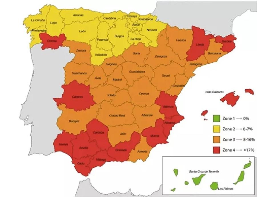 mapa actualizado leishmania canina espana