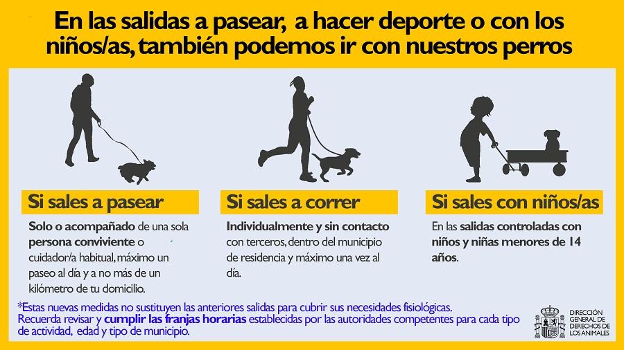 normas pasear perro desescalada espana