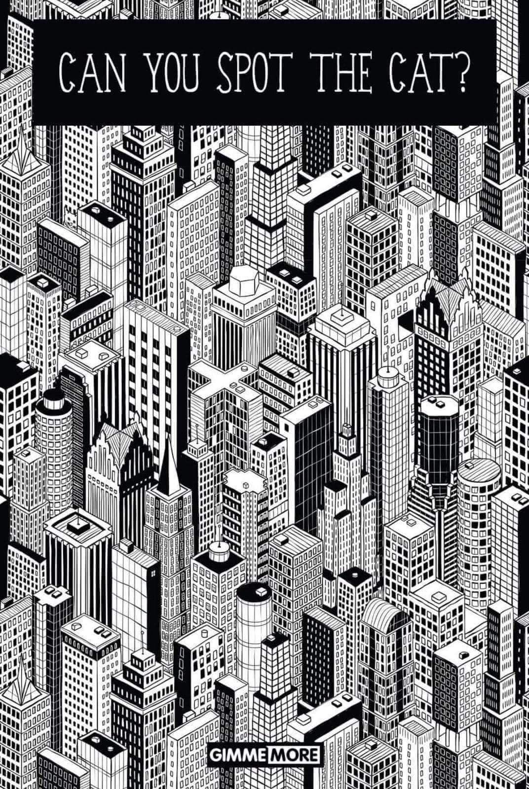 gato escondido edificios juego visual