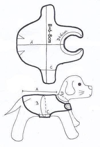 patron traje de navidad para perros