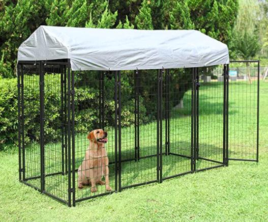 casetas para perros metal jardin