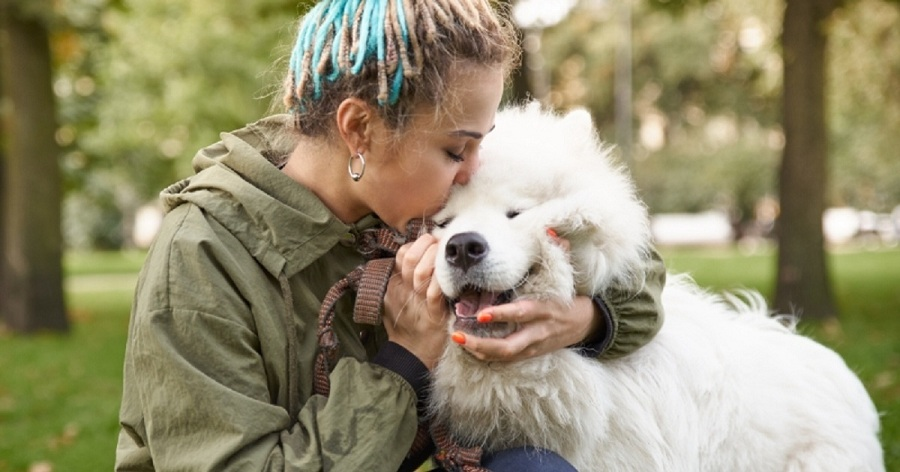 consejos educar perro persona besa perro