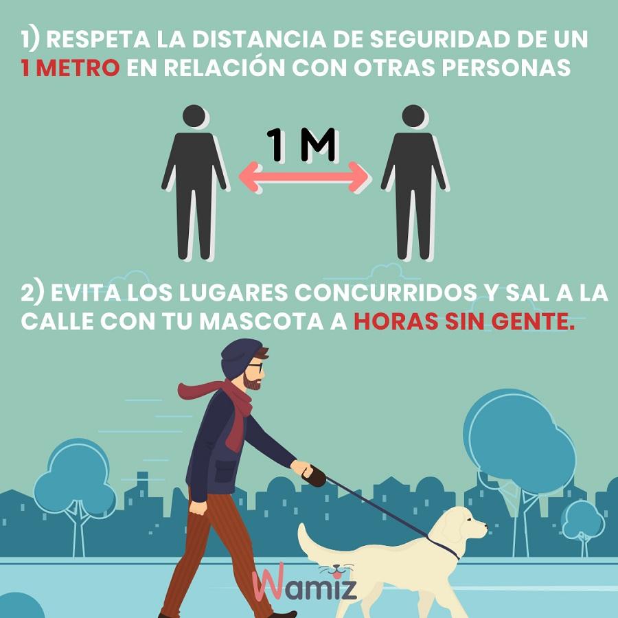 coronavirus distancia seguridad pasear perro