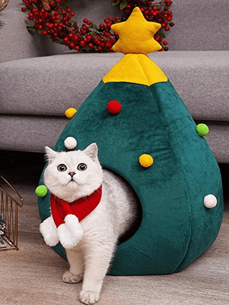 Cuccia albero natale gatto