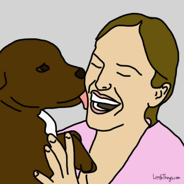 perro gesto amor