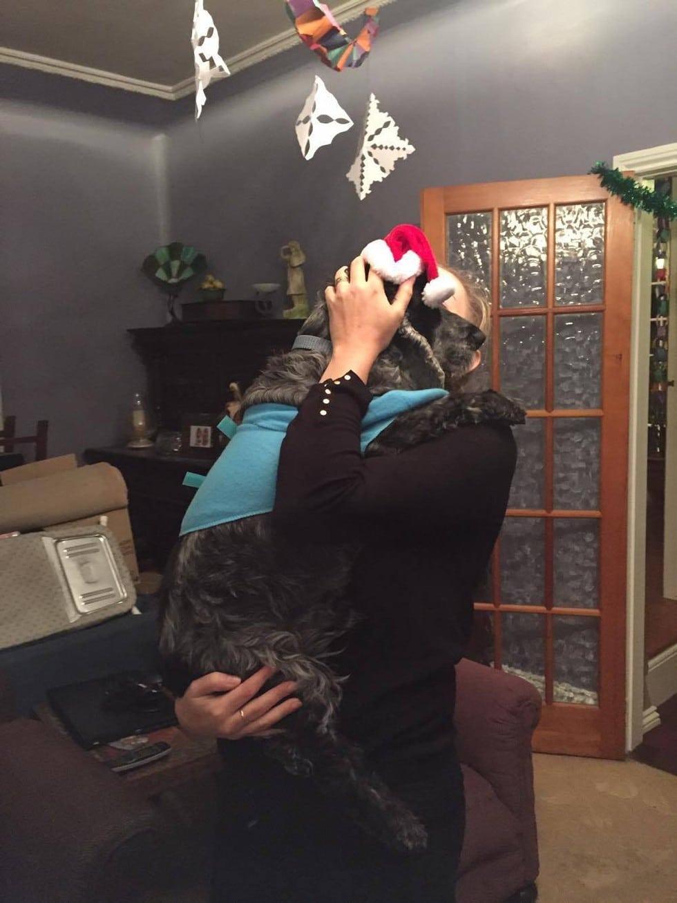 ultimo abrazo a perro