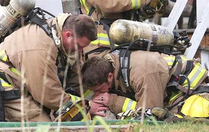 bomberos respiracion boca a boca animales