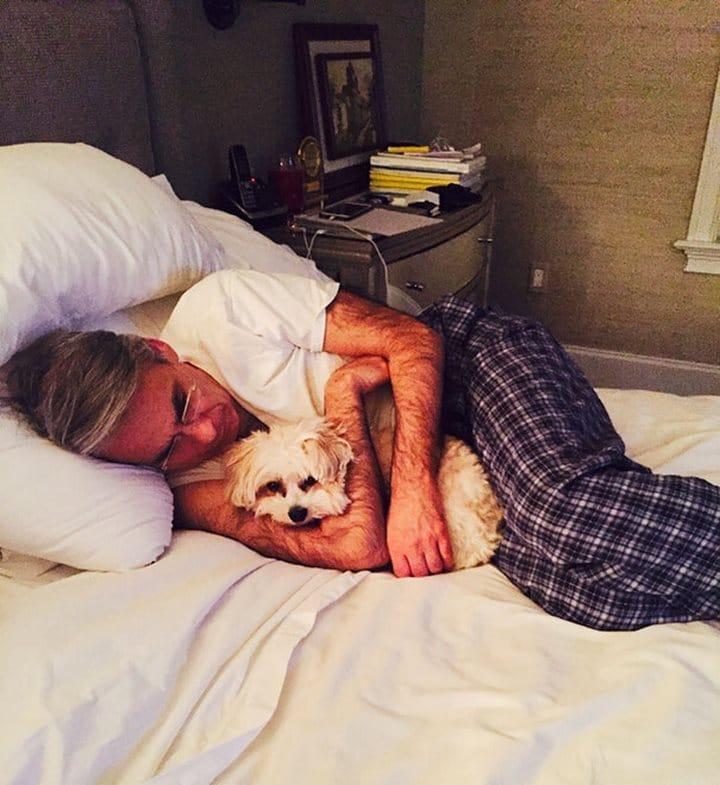 perro padre cama