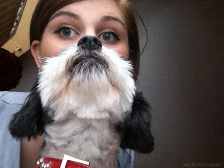 mujer cara de perro