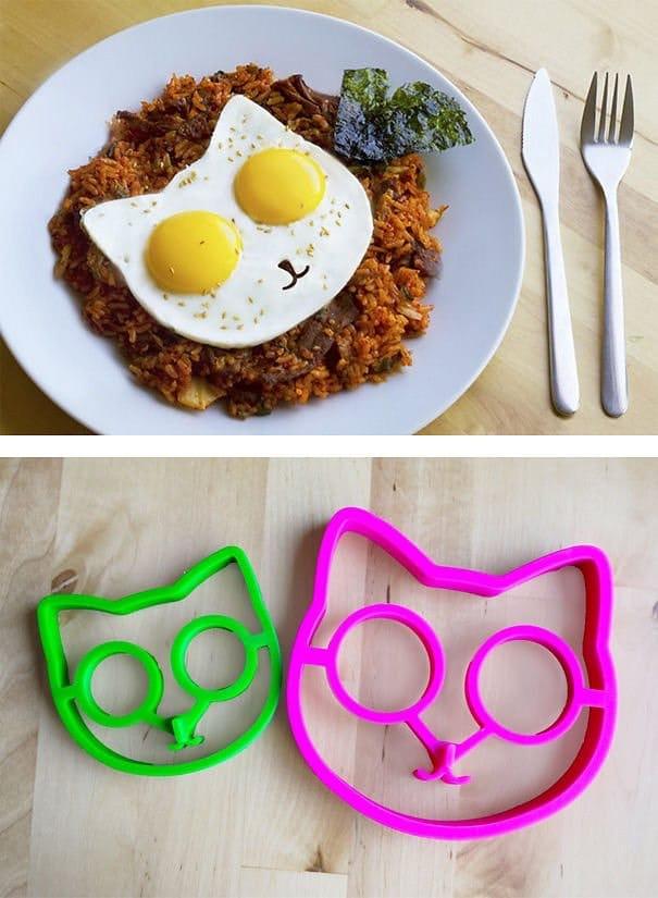 moldes para huevos con forma de gato regalo navidad
