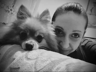cristina trabatti con il suo cane