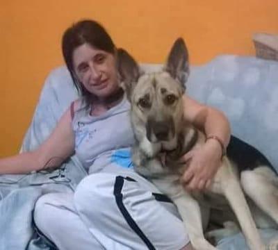 giuseppina signorini con il suo cane