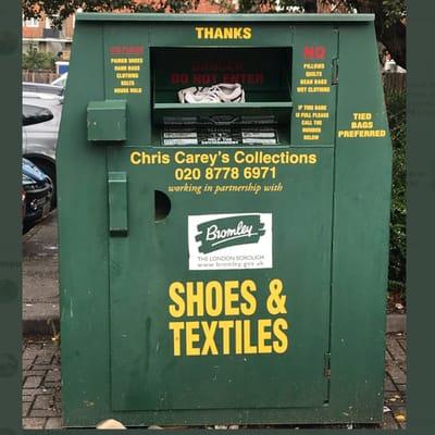 contenedor de ropa
