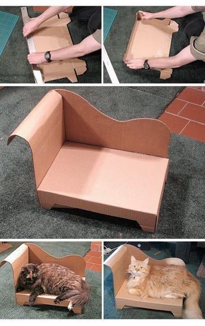 Sofá para gato hecho a mano