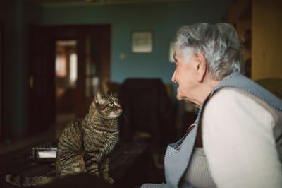 starsza pani z kotem