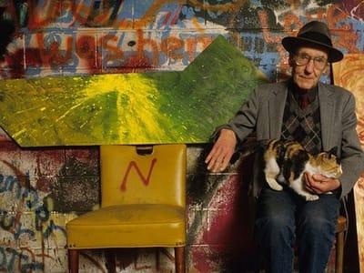William S. Burroughs con su gato