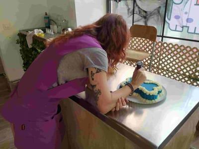 Pasteleria para perros miguitas tarta