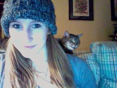 gato diabolico selfie