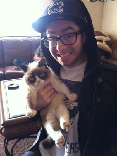 gato enfadado selfie