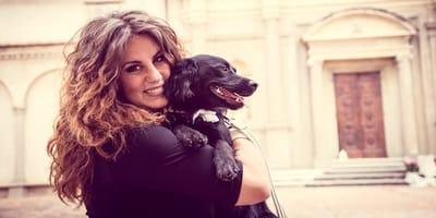 Elisa Guidarelli con il suo cane