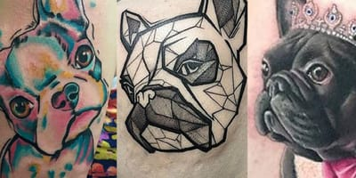 tatuajes de bulldog frances