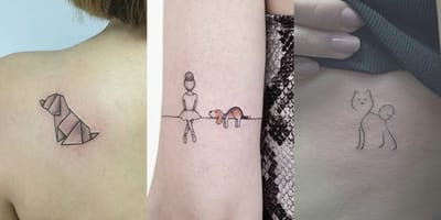 tatuajes de perro elegantes