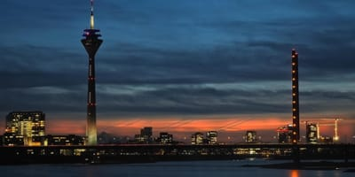 Skyline von Düsseldorf in NRW