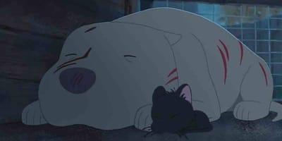 cartone animato con cane e gatto