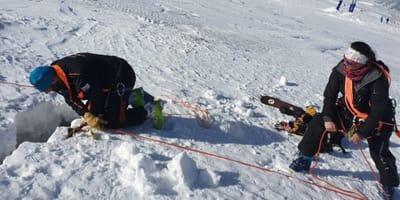 Ungewöhnlicher Fund: Suchhunde schlagen an Eisspalte Alarm