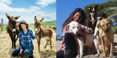 Animal activist woman Salima Kadaoui saves hundreds of animals from the streets