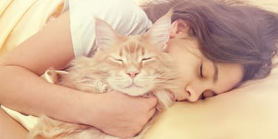 ¿Es bueno dormir con mi gato?