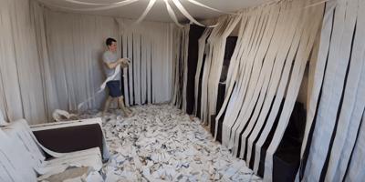 Klopapier im Zimmer