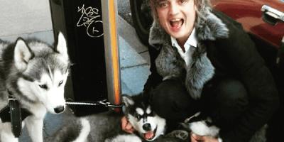 Pete Doherty shocks Paris whilst walking his two Siberian Huskies