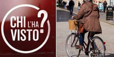 anziana in bicicletta