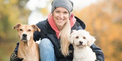 Conny Sporrer mit Hunden