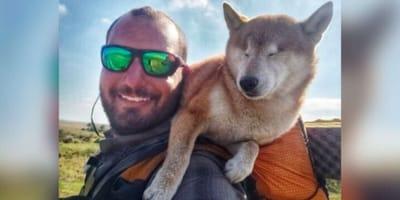 Mężczyzna zabiera niewidomego psa na wyprawę, która stanie się przygodą życia