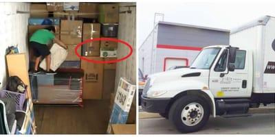 Camionista sente rumori dal suo carico: ciò che scopre è sorprendente!