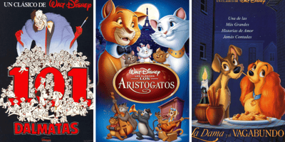 Peliculas de perros y gatos de Disney