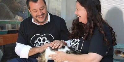 Salvini al Gattile del Verano