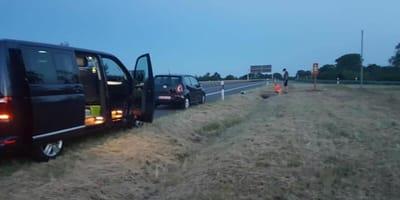auto-sul-bordo-dell'autostrada