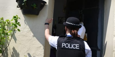 Police knock on door