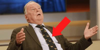 Dackel-Krawatte ist Gaulands Markenzeichen