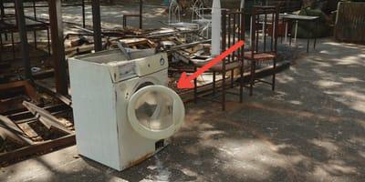 abandonados tambor lavadora