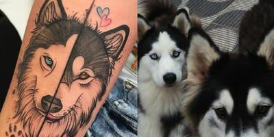 Die schönsten Husky-Tattoos auf Instagram