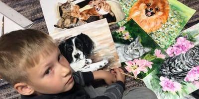 Junge mal Tierportraits