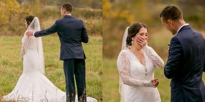 Sposi nel giorno delle nozze