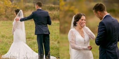 Rührende Szenen bei der Hochzeit