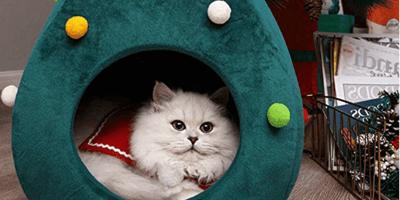 Cuccia gatto albero Natale