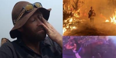 firefighter in au bush fires